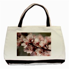 PLUM BLOSSOMS Basic Tote Bag (Two Sides)