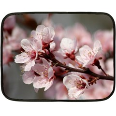 PLUM BLOSSOMS Fleece Blanket (Mini)