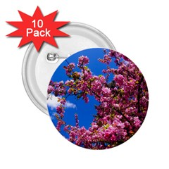 PINK FLOWERS 2.25  Buttons (10 pack)