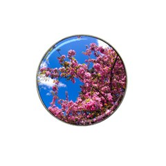 PINK FLOWERS Hat Clip Ball Marker