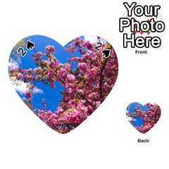 PINK FLOWERS Playing Cards 54 (Heart)