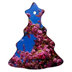 Pink Flowers Christmas Tree Ornament (2 Sides)
