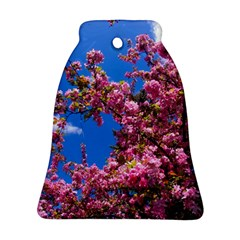 Pink Flowers Bell Ornament (2 Sides)
