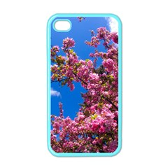 PINK FLOWERS Apple iPhone 4 Case (Color)