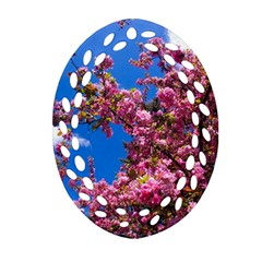 Pink Flowers Ornament (oval Filigree)
