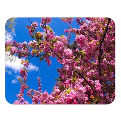 PINK FLOWERS Double Sided Flano Blanket (Large)