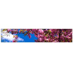 PINK FLOWERS Flano Scarf (Large)