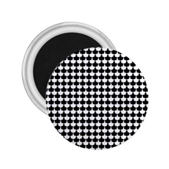 Black And White Scallop Repeat Pattern 2.25  Magnets