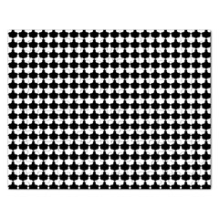 Black And White Scallop Repeat Pattern Rectangular Jigsaw Puzzl