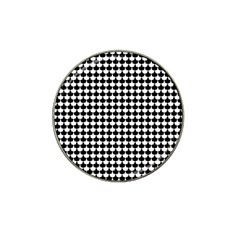 Black And White Scallop Repeat Pattern Hat Clip Ball Marker (4 pack)