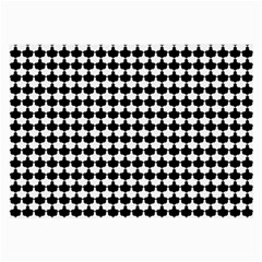 Black And White Scallop Repeat Pattern Large Glasses Cloth (2 Side)