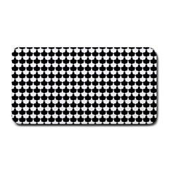 Black And White Scallop Repeat Pattern Medium Bar Mats