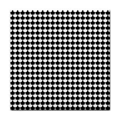 Black And White Scallop Repeat Pattern Face Towel