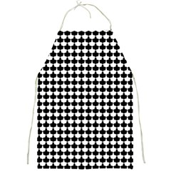 Black And White Scallop Repeat Pattern Full Print Aprons