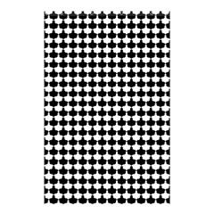Black And White Scallop Repeat Pattern Shower Curtain 48  x 72  (Small)