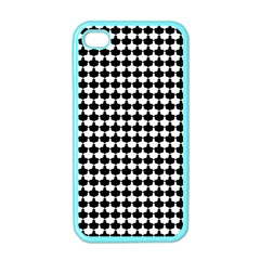 Black And White Scallop Repeat Pattern Apple iPhone 4 Case (Color)