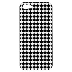 Black And White Scallop Repeat Pattern Apple iPhone 5 Hardshell Case