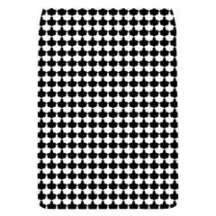 Black And White Scallop Repeat Pattern Flap Covers (L)