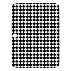 Black And White Scallop Repeat Pattern Samsung Galaxy Tab 3 (10.1 ) P5200 Hardshell Case