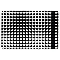 Black And White Scallop Repeat Pattern iPad Air 2 Flip