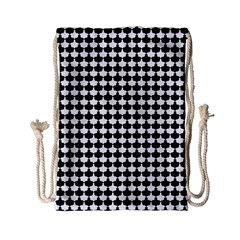 Black And White Scallop Repeat Pattern Drawstring Bag (Small)