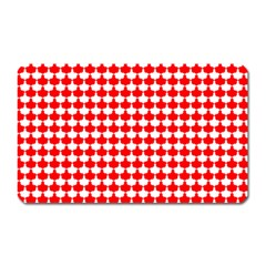 Red And White Scallop Repeat Pattern Magnet (rectangular)