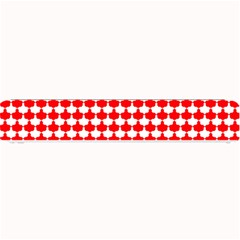 Red And White Scallop Repeat Pattern Small Bar Mats