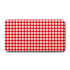 Red And White Scallop Repeat Pattern Medium Bar Mats