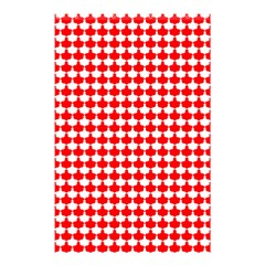 Red And White Scallop Repeat Pattern Shower Curtain 48  X 72  (small)