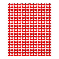 Red And White Scallop Repeat Pattern Shower Curtain 60  X 72  (medium)
