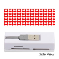 Red And White Scallop Repeat Pattern Memory Card Reader (Stick)