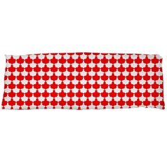 Red And White Scallop Repeat Pattern Body Pillow Cases (Dakimakura)