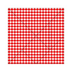 Red And White Scallop Repeat Pattern Acrylic Tangram Puzzle (6  x 6 )
