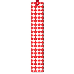 Red And White Scallop Repeat Pattern Large Book Marks