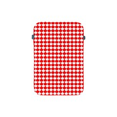 Red And White Scallop Repeat Pattern Apple iPad Mini Protective Soft Cases