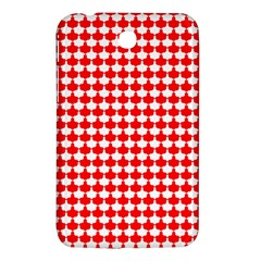 Red And White Scallop Repeat Pattern Samsung Galaxy Tab 3 (7 ) P3200 Hardshell Case