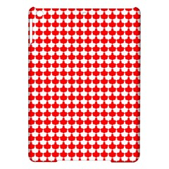 Red And White Scallop Repeat Pattern Ipad Air Hardshell Cases
