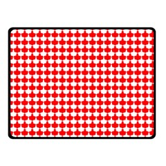Red And White Scallop Repeat Pattern Double Sided Fleece Blanket (small)
