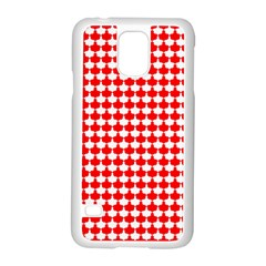 Red And White Scallop Repeat Pattern Samsung Galaxy S5 Case (white)