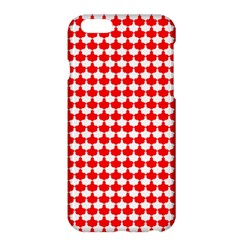 Red And White Scallop Repeat Pattern Apple iPhone 6 Plus/6S Plus Hardshell Case
