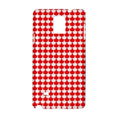 Red And White Scallop Repeat Pattern Samsung Galaxy Note 4 Hardshell Case