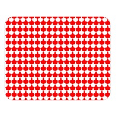 Red And White Scallop Repeat Pattern Double Sided Flano Blanket (Large)