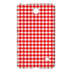 Red And White Scallop Repeat Pattern Samsung Galaxy Tab 4 (8 ) Hardshell Case