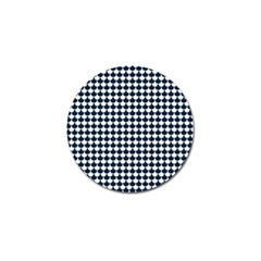 Navy And White Scallop Repeat Pattern Golf Ball Marker (10 pack)