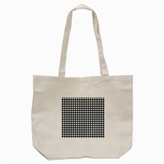 Navy And White Scallop Repeat Pattern Tote Bag (Cream)