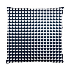 Navy And White Scallop Repeat Pattern Standard Cushion Case (One Side)