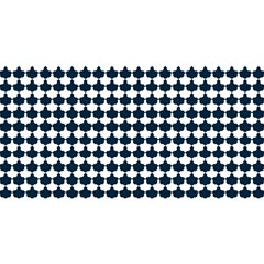Navy And White Scallop Repeat Pattern YOU ARE INVITED 3D Greeting Card (8x4)
