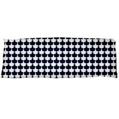 Navy And White Scallop Repeat Pattern Body Pillow Cases (Dakimakura)