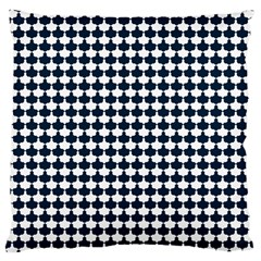 Navy And White Scallop Repeat Pattern Large Cushion Cases (Two Sides)