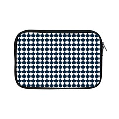 Navy And White Scallop Repeat Pattern Apple iPad Mini Zipper Cases